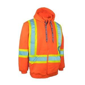 Forcefield Hi-Vis Orange Safety Hoodie Size XL